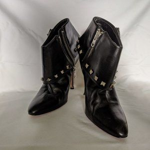 Manolo Blahnik Authentic Studded Ankle Booties